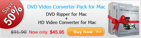 WinX DVD Video Converter Pack for Mac
