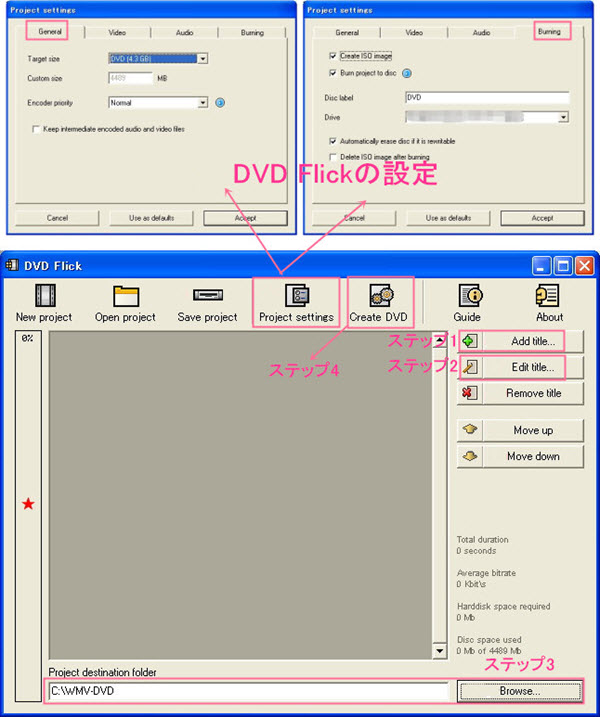 DVD Flick使い方