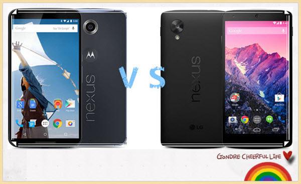 Nexus6とNexus5比較