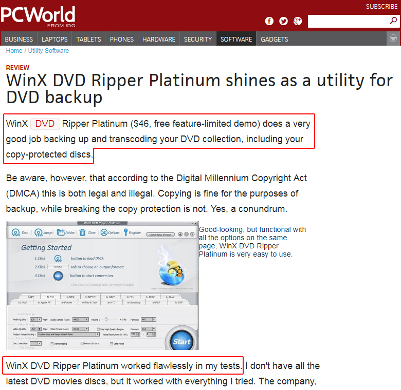 [OFFICIAL] Purchase WinX DVD Ripper Platinum Full License - Lifetime Free Upgrade
