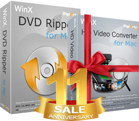WinX DVD Ripper for Mac buy one get one free