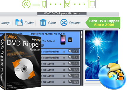 WinX DVD Ripper Platinum Interface and License Code
