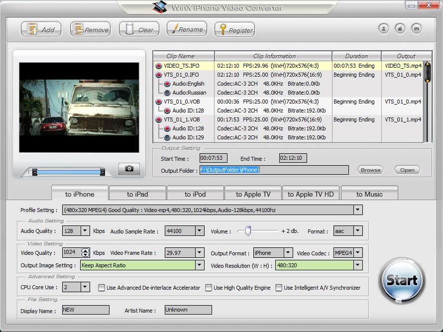 WinX iPhone Video Converter - 将视频转换为能在 iPhone 上看的视频转换软件丨反斗限免