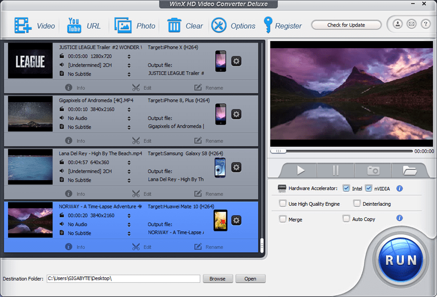 Convert media files to MP3 MP4 AVI MOV and many other formats