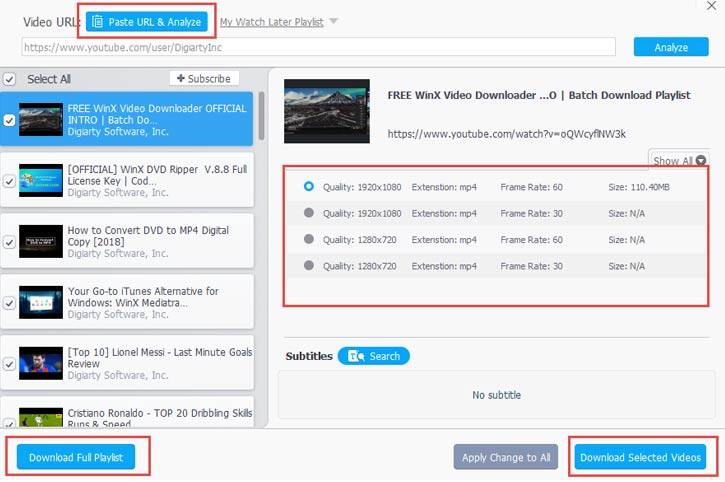 WinX YouTube Downloader User Guide - How to Free Download