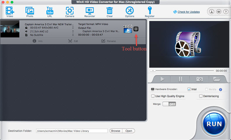 Compress a Video on Mac