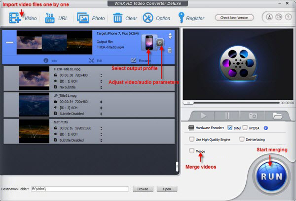 WinX HD Video Converter Deluxe - edit video
