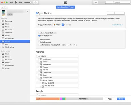 how to sync iphone to itunes