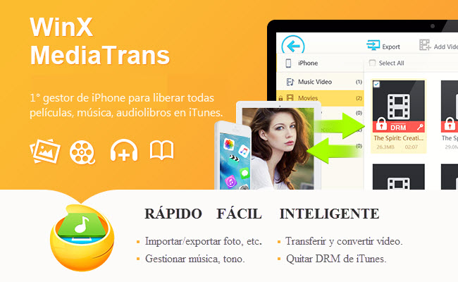 WinX MediaTrans permite transferir archivos multimedia al iPhone sin utilizar iTunes