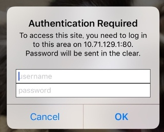 iPhone Authentication Required
