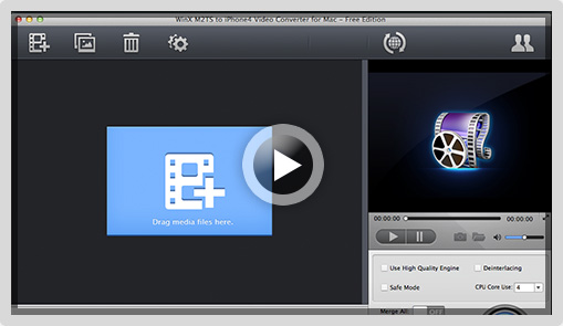 WinX iPad Video Converter for Mac