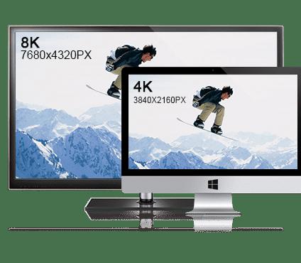 8K/4K UHD Video Download Play Tips – 4K/8K Resolution, TVs and Codecs