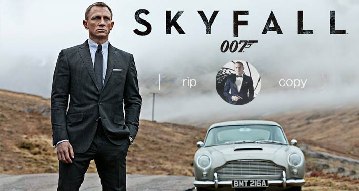 Rip Copy James Bond Movie DVD - Skyfall