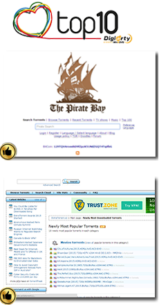 Top Torrent Sites  - The Pirate Bay