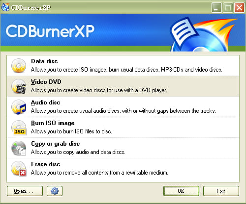 Cd burning download software xp free