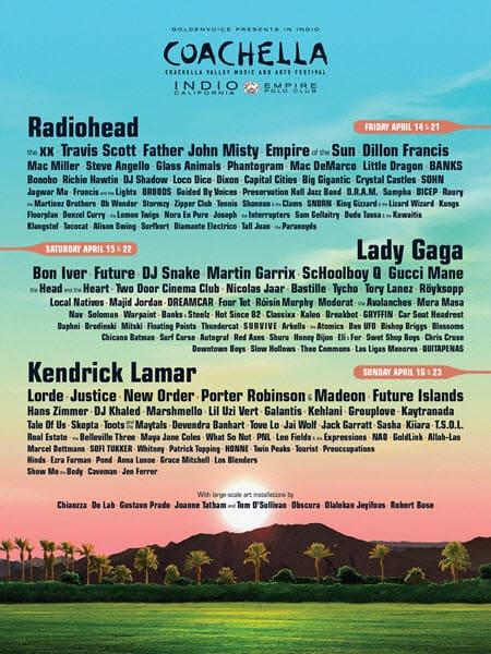 Coachella Music Festival 2017 Lineup