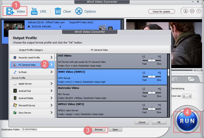 Free Convert MP4 to WMV on Windows 10