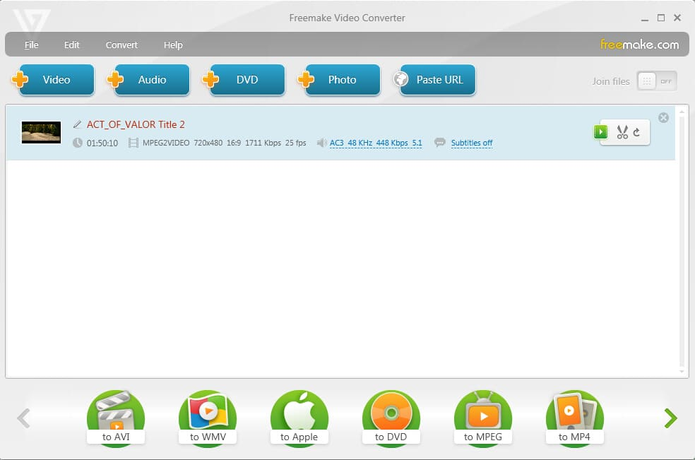 Free DVD to MP4 Converter - Freemake Video Converter