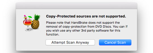HandBrake not support protected DVDs