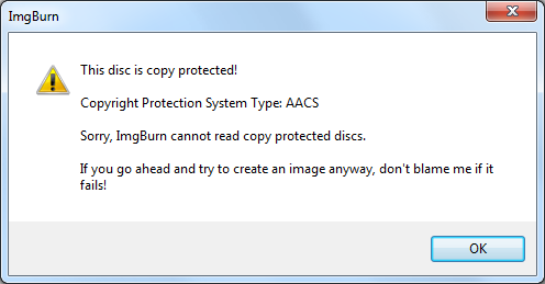 Can ImgBurn Burn Copy-protected DVDs?