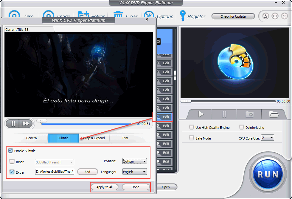 Movie subtitles guide how to addimport movie subtitles to dvd video import external srt subtitles ccuart Images