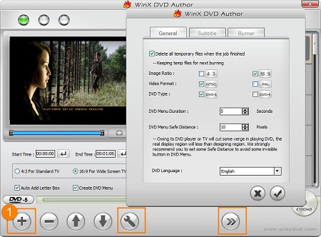 Import Movie Source to DVD Movie Burner