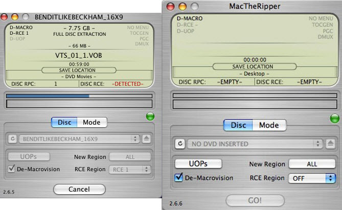 free DVD ripper for Mac - MacTheRipper 2.6.6
