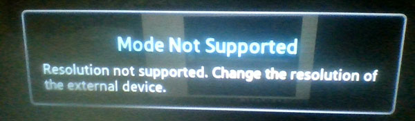 Solved] TV Says Mode Not Supported When Playing DVDs