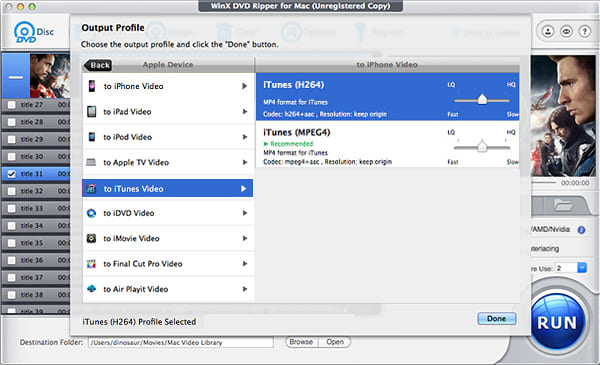 How to convert DVD to iTunes