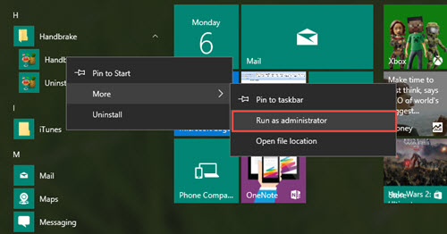 windows 10 how to run as administrator always