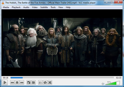 open source media player Windows 7 - VLC