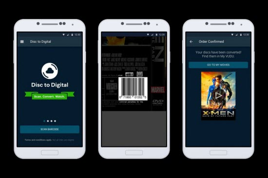 vudu mobile disc to digital guide