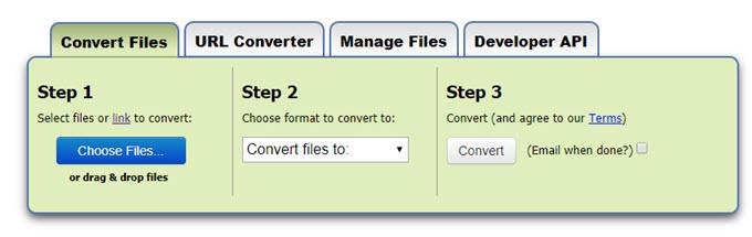 Convert WebM to MP4 with Zamzar