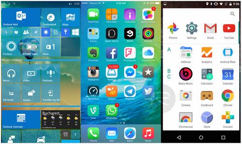 Windows 10 Mobile Vs Ios 9 Vs Android M Winner Of Mobile