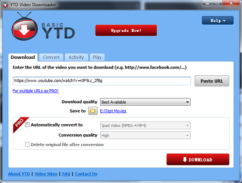 Facebook Download Software - YTD Video Downloader