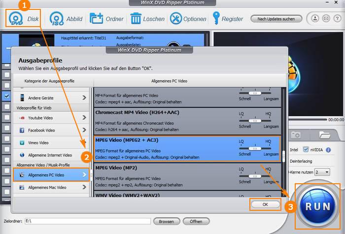 DVD in MPEG umwandeln mit WinX DVD Ripper Platinum