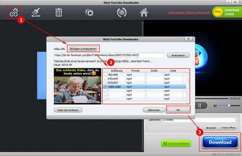 2019 Top 3 Free Facebook Video Downloader (Deutsch) im Test