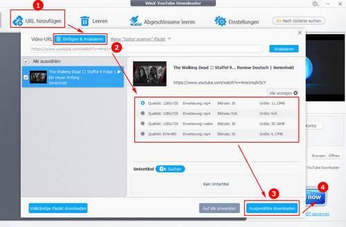 Torrent Filme kostenlos downloaden mit WinX YouTube Downloader