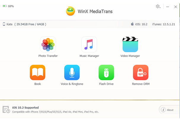 WinX MediaTrans 5.1 Screen shot