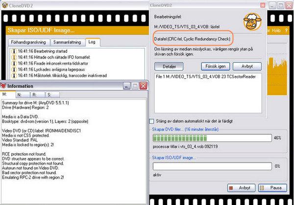 How to Fix AnyDVD CloneDVD/CloneDVD Mobile Cyclic Redundancy Check Error