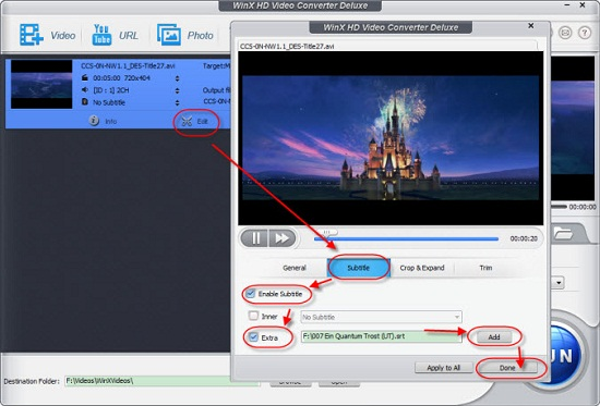 How to add subtitles to mp4 avi mkv movies videos on windows 10 add subtitle to video on windows 10 ccuart Choice Image