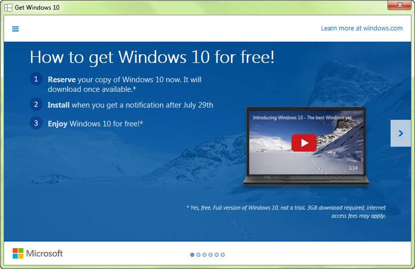 upgrade to win10 free