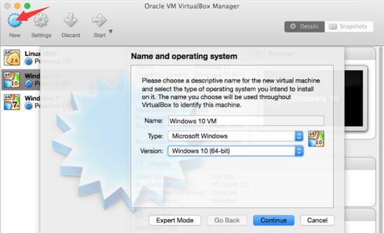 linux machine on windows 10